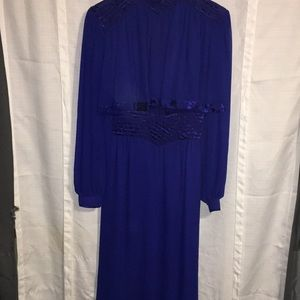 Wayne Clark Aline Marcelle plum sz 8 vintage dress